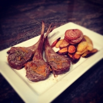 Orange flavored lamb chops