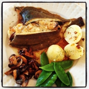 Stuffed Plaice with sides