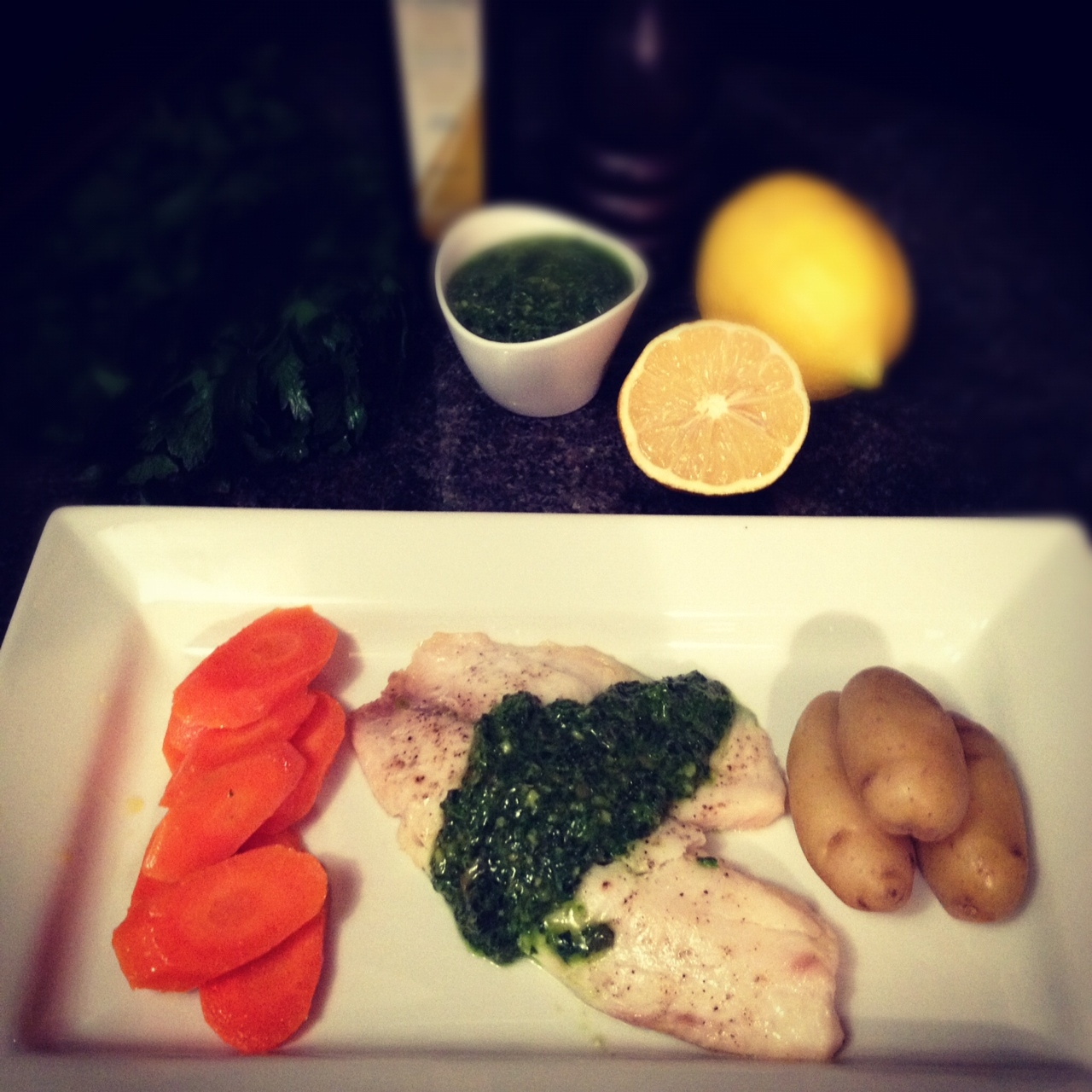 ... Dinner: Ovenbaked Tilapia with Salsa Verde | shoesfoodandfriends