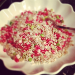 Bulgur salad with pomegranate