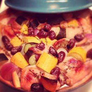 Chicken pot with Zucchini