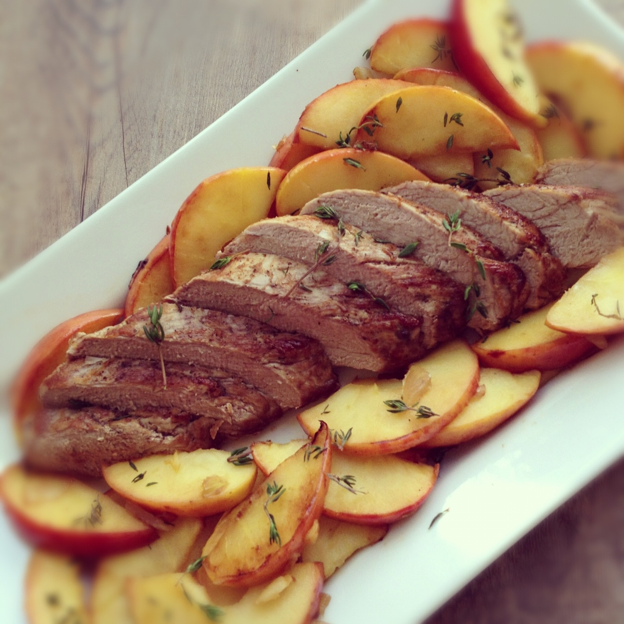 Pork Tenderloin with Caramelized Apples