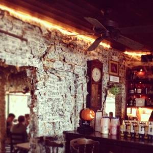 Dollar bills at Cabbage Key