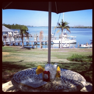 Lunch view at Cabbage Key