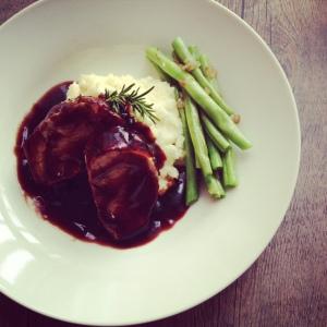 Pork tenderloin Marsala sauce