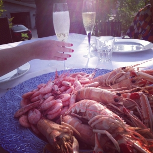 Champagne and Seafood