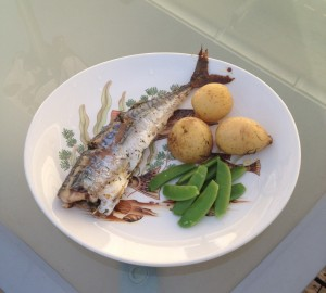 Dill filled mackerel dinner
