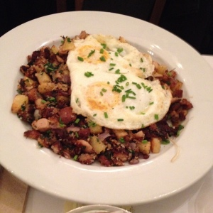 Hampshire Pork Belly Hash and Eggs