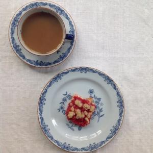 Fika with red currant square