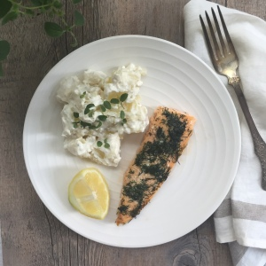 Gravad Arctic Char with Potato Salad